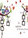 Djur Botanisk Blommig Väggklistermärken Väggstickers Flygplan Väggstickers i 3D Dekrativa Väggstickers Fotostickers,Papper Vinyl Material