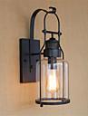 ac ac 110-130 220-240 40w e26 / e27 rustique / lodge pays caracteristique d\'arrivee d\'oxyde retro noir pour ampoule inclus oeil