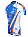 TASDAN Maillot de Cyclisme Homme Manches courtes Velo Maillot Hauts/Tops Sechage rapide Respirable Anti-transpiration 100 % PolyesterEte