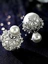 Cercei Stud Imitație de Perle Aliaj Alb Rosu Bijuterii Pentru Nuntă Petrecere Zilnic Casual 1 pereche
