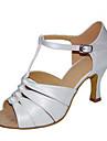 Chaussures de danse(Noir Marron Blanc Argent Or) -Personnalisables-Talon Personnalise-Satin-Latines Jazz Salsa Chaussures de Swing