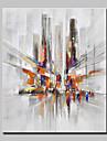 Pictat manual Peisaj Peisaje Abstracte Vertical,Modern Stil European Un Panou Canava Hang-pictate pictură în ulei For Pagina de decorare