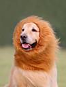 Pisici Câini Costume Perucă Îmbrăcăminte Câini Vara Primăvara/toamnă Animal Cosplay Leu Alb Negru Maro Deschis Maro Închis