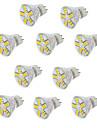 3.5 GU4(MR11) Spot LED MR11 15LED SMD 5730 350 lm Blanc Chaud Blanc Froid Decorative V 10 pieces
