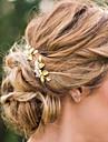 Femei Aliaj Imitație de Perle Diadema-Nuntă Ocazie specială Informal Clipuri de Păr Ac de Păr Păr Stick 2 Piese