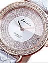 Pentru femei Ceas La Modă Simulat Diamant Ceas Quartz Piele Bandă Casual Luxos Negru Alb Albastru Roșu Gri Pink Violet