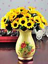 1 Une succursale Polyester Tournesols Fleur de Table Fleurs artificielles 7.5