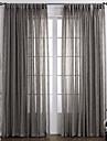 Un Panou Tratamentul fereastră Țara , Solid Dormitor Material Sheer Perdele Shades Pagina de decorare For Fereastră