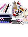 75pcs sätter manikyr verktyg 818 UV-lampa pulver tryckplåt Carve mönster passar penna typ torr slipmaskin