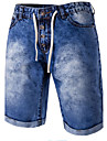 Bărbați Zvelt Blugi Pantaloni Scurți Pantaloni Simplu Bloc de Culoare Casul/Zilnic Plajă Talie Medie Fermoar Buton Bumbac Polyester