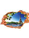 Bande dessinee Paysage 3D Stickers muraux Autocollants avion Autocollants muraux 3D Autocollants muraux decoratifs,Vinyle Materiel