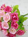 1 Une succursale Polyester Plastique Roses Fleur de Table Fleurs artificielles 2.3 x 2.2(0.9\'\' x 0.87\'\')