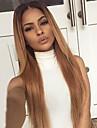 ombre T1B / 27 # färg människohår spetsar peruker silkeslen rakt hår 130% densitet brasilianska jungfru håret fullt spetsar peruker för