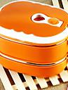 2-couche en acier inoxydable isolee boite lunchbox avec poignee (couleur aleatoire)