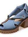 Femme-Exterieure Habille Decontracte--Gros Talon Block Heel-Confort-Sandales-Similicuir