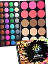 40 Color Eyeshadow + 15 Color Face Blush&Concealer Contour Concealer/kontur Puderrouge Highlighters/Bronzers+ÖgonskuggorTorr Fuktig Matt