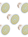 5W GU10 GU5.3(MR16) E26/E27 Spot LED 54 SMD 2835 400-500 lm Blanc Chaud Blanc Froid Blanc Naturel Decorative V 5 pieces