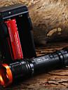 LED-Ficklampor Ficklampor LED 1800 Lumen 5 Läge Cree XM-L T6 18650 Justerbar fokusCamping/Vandring/Grottkrypning Vardagsanvändning