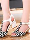 Femme-Decontracte--Gros Talon Block Heel-A Bride Arriere-Sandales-Polyurethane