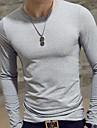 Bărbați În V Tricou Casul/Zilnic Simplu(ă),Mată Manșon Lung Subțire Celofibră