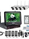 strongshine® camera IP sans fil avec 960p infrarouge impermeable et NVR 10,1 pouces kits hdd de surveillance 2TB lcd