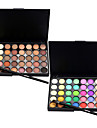 40 Color Eyeshadow (2 Color Set to Choose)+ 1 Eyeshadow BrushFards a PaupieresPinceaux de Maquillage Sec Mat Lueur Yeux VisageEtendu