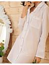 Dame Costume Pijamale Bumbac-Imprimeu Solid
