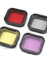 Accessoires pour GoPro, plongee Filtre  de Lentille Pour-Camera d\'action, Gopro Hero 2 Gopro Hero 3+ Plongee 4pcs Plastique