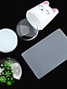 1set super-lapin de cola meng poignee blanche silicium transparent tete d\'impression offset