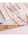 Bărbați Pentru femei Lănțișoare imitație de diamant Aliaj Cross Shape Σταυρός Auriu Argintiu BijuteriiPetrecere Ocazie specială Zi de
