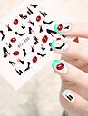 10pcs/set Autocollant d\'art de clou Autocollants de transfert de l\'eau Maquillage cosmetique Nail Art Design