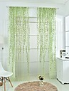 One Panel Rod pocket Country Living Room Polyester Sheer Curtains Shades