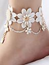 Dame Brățară Gleznă/Brățări Dantelă La modă de Mireasă Flower Shape Crown Shape Alphabet Shape Mâini Hansa Alb Femei BijuteriiNuntă