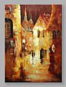 Pictat manual Peisaje Abstracte Vertical,Modern Stil European Un Panou Canava Hang-pictate pictură în ulei For Pagina de decorare