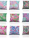 9 pcs Soie Polyester Housse de coussin Taie d\'oreiller,Solide TextureModerne/Contemporain Decontracte Traditionnel/Classique Plage