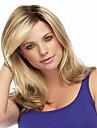 Perruques synthetiques ombre corps ombre 1b / blonde couleur perruques resistant a la chaleur pour femmes