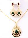Seturi de bijuterii Pandative Seturi de bijuterii de mireasă Adorabil Euramerican stil minimalist Clasic La modă Vintage Ștras Buton Auriu