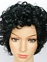 Femme Perruque Synthetique Sans bonnet Court Tres Frise Noir Perruque afro-americaine Pour Cheveux Africains Perruque Naturelle Perruque