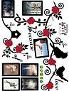 Floral Paysage 3D Stickers muraux Autocollants avion Autocollants muraux 3D Autocollants muraux decoratifs Autocollants mariage,Papier