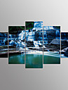 Impression sur Toile Paysage Moderne,Cinq Panneaux Toile Toute Forme Imprimer Art Decoration murale For Decoration d\'interieur