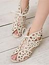 Damă Sandale Pantof cu Berete PU Vară Casual Toc Plat Alb Negru Galben 2.5 - 4.5 cm