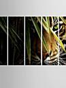 Poster Giclee Animal Modern Pastoral,Cinci Panouri Canava Vertical print Arta Decor de perete For Pagina de decorare