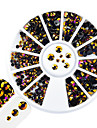 1pcs forme mixte ongle art rond disque glitter violet topaze flamme rhinestone brillant resine gelee decoration strass pour ongles art diy