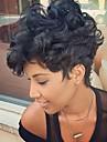 Diy prevalent confortable noir court cheveux boucles cheveux humains cheveux perruque cheveux