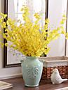 10 Gren Silke Orkidéer Konstgjorda blommor