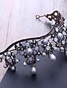 Stras aluminiu imitație perla cap-nunta ocazie specială în aer liber tiaras păr pin 1 bucată