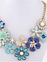Pentru femei Coliere Imitație de Perle Flower Shape Diamante Artificiale Aliaj Design Unic Stil Atârnat Floral La modă Bohemia Stil