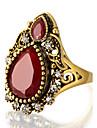 Inele Afirmatoare Inel Design Unic La modă Vintage Personalizat Euramerican bijuterii de lux Bijuterii Statement Reșină AliajRound Shape