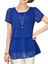 Rotund Bluză Casul/Zilnic Plus Size Simplu(ă),Mată Manșon scurt Vară-Mediu Acrilic