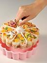 Tăvi Inimă tort Ice pentru pâine Care înmugurește Plastic DIY Calitate superioară Nelipicios